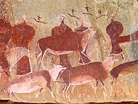Bushman and San rock art in the Drakensberg South Africa