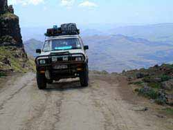 4x4 off roading in Lesotho